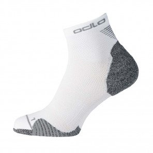 Chaussettes de course Odlo Quarter CERAMICOOL White unisexe | 763750-10000_1