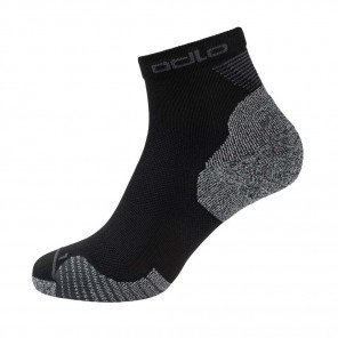 Chaussettes de course Odlo Quarter CERAMICOOL Black unisexe | 763750-15000_1
