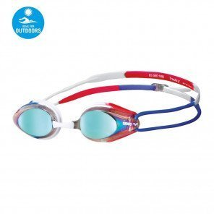Lunettes de natation arena Tracks Mirror Gold/Blue/Red unisexe | 92370-174_1