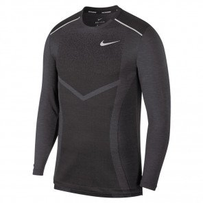 Tee-Shirt Manches Longues Nike Techknit Ultra Gris pour Homme