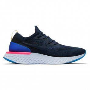 Nike Epic React Flyknit Bleu et Blanche pour Femme