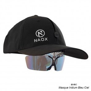 Casquette Naox Noire avec Masque Solaire au choix - Taille Standard