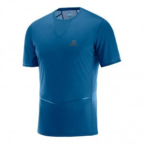 Tee-shirt technique running Salomon Sense Ultra Tee M Poseidon pour homme | C10729_1