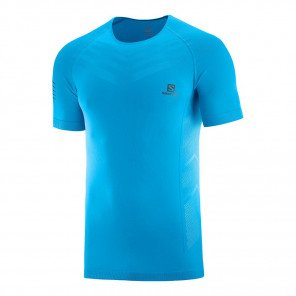 Tee-shirt technique Salomon Sense PRO Tee M Vivid Blue pour homme | C13090_1