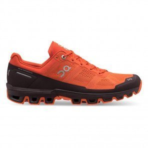 On Running Cloudventure Orange et Bordeaux pour Homme