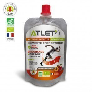 Compote énergétique Biologique Atlet saveur Pomme/Abricot pour sportifs - Portion de 100g
