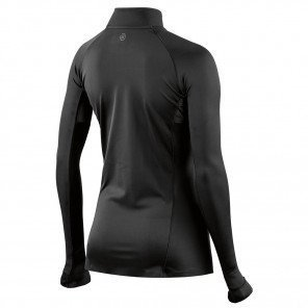 Maillot de Compression à manches longues et col zippé Skins DNAmic Ultimate Noir pour Femme