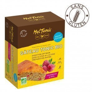 Gâteau Energétique Bio Meltonic saveur Framboise Miel et Gelée Royale - Boîte de 400g