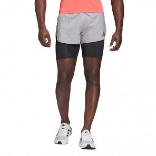 Short de running avec cuissard adidas HEAT.RDY SHORT M Glory Grey / Black / Signal Pink pour homme | GC8065_1