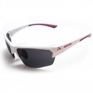 Lunettes Altitude Eyewear Holeshot Blanche et Fuschia avec Verres SKYLAB UV400 Cat. 3