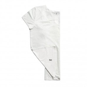 Tee-shirt de course technique On Running Performance-T Ice/White pour femme | 202.00114_1