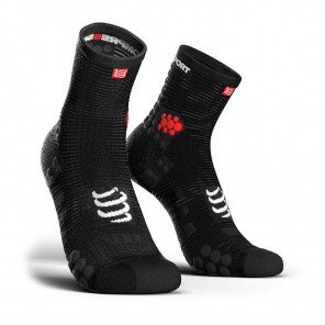 Chaussettes Compressport Run Pro Racing V3 Hautes Noires