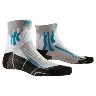 Chaussettes X-Socks Run Speed Two Grise et Bleue Edition spéciale 20ème Anniversaire