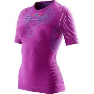 Tee-Shirt de Compression X-Bionic TwYce Rose pour Femme