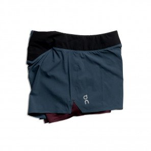 Short de course technique On Running Running Shorts Navy/Mulberry pour femme | 205.00134_1