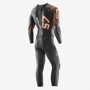 Combinaison en néoprène de Triathlon Orca S7 Noire et Orange pour Homme