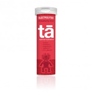 Tubes de 12 pastilles effervescentes d'électrolytes TA Energy saveur Fraise-Kiwi | 00104