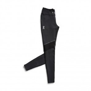 Leggings de course isolant et respirant On Running Tights Long Black/Shadow pour femme | 217.00054_1