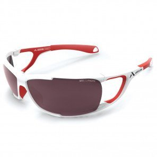Lunettes Altitude Eyewear Ultimate Blanche et Rouge avec Verres SKYLAB Photocromiques UV400 Cat. 2 à 3
