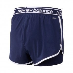 Short 2-en-1 New Balance Relentless Bleu marine et Blanc pour Femme