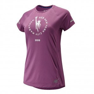 Tee-shirt à manches courtes New Balance Ice 2.0 NYC Marathon Edition pour femme | WT93200MKPL_1