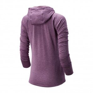 Tee-shirt à manches longues avec capuche New-Balance Heatgrid Hoodie édition NYC Marathon 2019 pour Femme